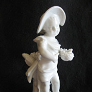 SALE REDUCED: Antique KPM Blanc de Chine Child With Bird Nest, Pristine