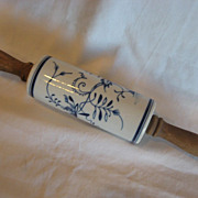 REDUCED Meissen Rolling Pin Blue Onion Pattern XLNT