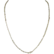 925 Italy Sterling Silver Oval Link Bead Necklace