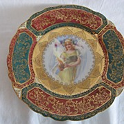 "REDUCED REDUCED:  R S Prussia, RARE, ""Lady With Fire"" Plate, Prov Sxe E S Germany"