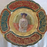 "REDUCED REDUCED:  R S Prussia, Prov Sxe E S Germany ""Portrait of a Lady"" Plate"
