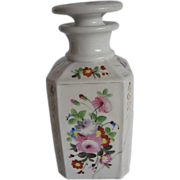 SALE Bargain SALE Antique French Hand Painted Porcelain Perfume, 1800's