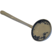 Flow Blue Soup Ladle, Floral Pattern