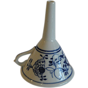 REDUCED Meissen Antique Kitchen Funnel, Blue Onion