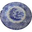 "Gorgeous Plate, Flow Blue Pattern ""Geneva"" by Royal Doulton"