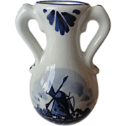 REDUCED &quot;Delft&quot; Hand Painted Jug, Blue & White, Holland
