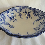 REDUCED Flow Blue 9&quot; Bowl In &quot;Marie&quot; Pattern By Grindley