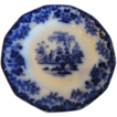 Flow Blue &quot;Scinde&quot; Pattern  Rare & Popular 9 1/2&quot; Plate