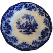 "Flow Blue ""Scinde"" Pattern  Rare & Popular 9 1/2"" Plate"