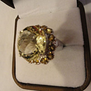 ON SALE: Golden Orange Yellow Citrine Gemstone Ring