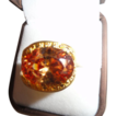 SALE:  Mega 14Ct. Honey Citrine Ring