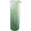 Lovely Vintage Minty Green Speckled Tall Blown Glass Vase