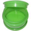 French Opaline Glass Apple Green Round Trinket Box, Fluorescence