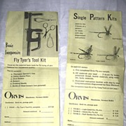 SALE VINTAGE Orvis Tying/Fly Kits Pamphlet!
