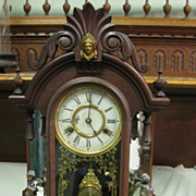 "New Haven Mirror Side Shelf Clock, ""Occidental"", circa 1900"
