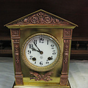 "Ansonia ""Ariel"" Metal Mantel Clock, circa 1904"