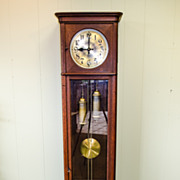 German Two-Weight Tall Case Clock, Circa 1920