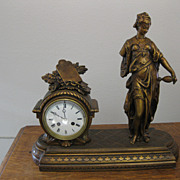 REDUCED French Statue Mantel Clock