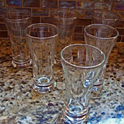 1950's Libbey Juice Glasses Set of 6