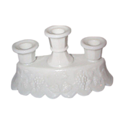 Westmoreland 3 Lite Candleholder - Panel Grape