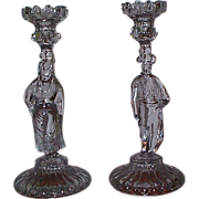 Pair of European Figural Candlestick - Maker Unknown - Matador & Woman