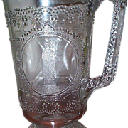 EAPG - Minerva (Roman Medallion) Water Pitcher - C 1870