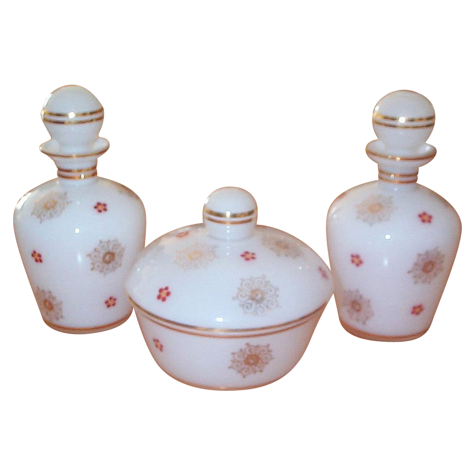 Vintage 1950's or before 6 piece Dresser/Perfume Set.
