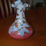 SOLD 6 Inches Tall Harrach  Bohemian Vase with Unusual Details