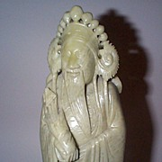 Tall Stone Carving of Oriental Person or Deity