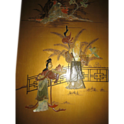 Chinese Hardstone Screen Panel with Figural Immortal