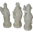 3 Blanc de Chine Figurines, God of Fortune, Prosperity and Longevity - Fu, Lu and Shou