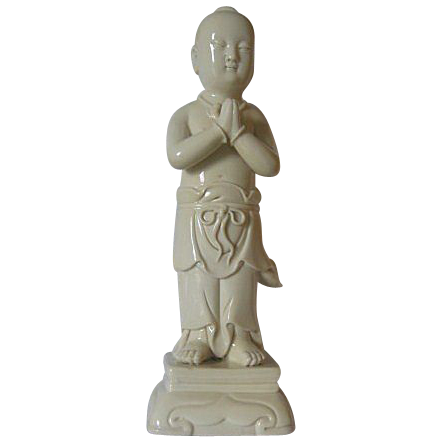 Dehua Porcelain of Shan Tsai - Disciple of Guanyin - 10 l/2 &quot; High