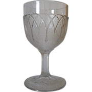 12 EAPG Loop and Dart Water Goblets C 1869 - 1888