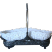 Antique Milk Glass Celery Tray in Silver  Holder By Bergh s/p Co . C. 1890-1900