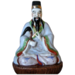 Vintage Oriental Deity In Sitting Position -  Porcelain