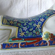 SOLD Chinese Porcelain Pillow -