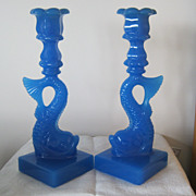 SOLD MMA Dolphin Candlestick - Blue