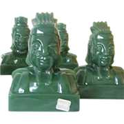 Imperial Mandarin Bookends - Jade Green Color - Emperor