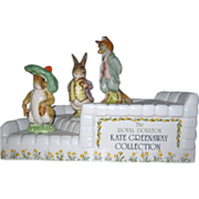 Kate Greenaway Display Stand with 3 Beatrix Potter Figurines