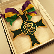 New Orleans Mardi Gras Rex Ducal Medal - 1975  original box