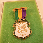 New Orleans Mardi Gras Rex Krewe Men's Ducal Medal -  1978