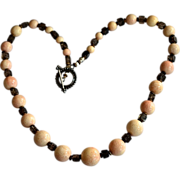Ancestral Sponge Coral Jumbo Bead Necklace Moss Quartz Necklace