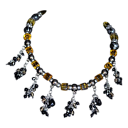 Ancestral Faceted Crystal Beaded Tassel Necklace