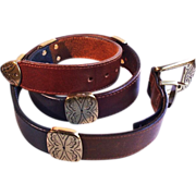 SALE Attractive Brighton Multi-Colored Leather Belt