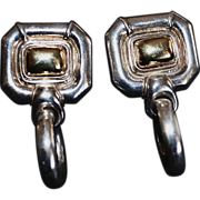 SALE GUCCI Vintage Sterling Silver Door Knocker Earrings
