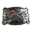 Vintage Etched Nickle Silver Warrior Buckle Mint