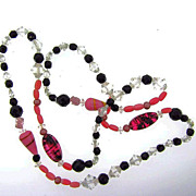 Gorgeous art glass bead necklace