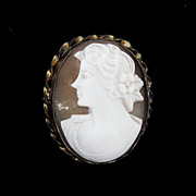 Beautiful carved shell cameo brooch/pendant