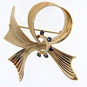 Signed Wells 1/20 12kt gold filled ribbon designed brooch