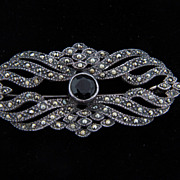 Elegant sterling with marcasites brooch